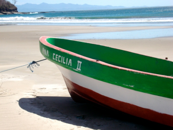 Fishing boat on Playa Coco