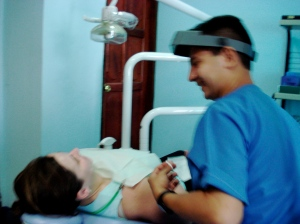 at the dentist in León, Nicaragua