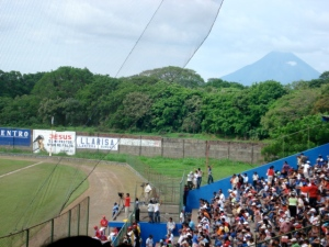 Rivas stadium with Volcan Concepción in the background