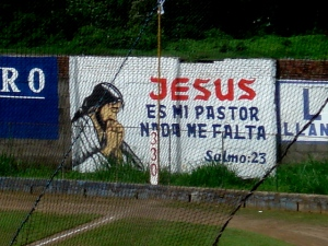 Ads for Jesus instead of Giant Glass