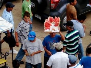 Watermelon instead of Fenway Franks?